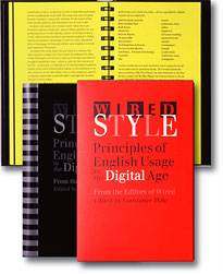 [Wired Style book cover and interior spread]